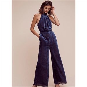 NWT Anthropologie Elevenses Velvet Nova Jumpsuit
